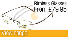 Rimless prescription glasses